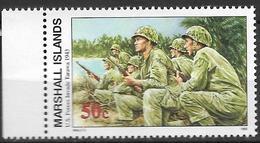 1993 Marshall Islands Mi. 492 **MNH Geschichte Des Zweiten Weltkrieges :  Landung Der Amerikanischen Truppen Auf Tarawa - Marshall