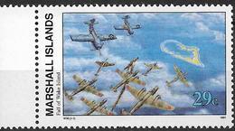 1991 Marshall Islands Mi.394**MNH Geschichte Des Zweiten Weltkrieges : Besetzung Von Wake Island Durch Die Japanischen T - Marshall