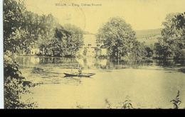 Wellin -  Etang Château De Neupont - Barque Personnages - Desaix. - Circulé 1924 - SUPER - Wellin