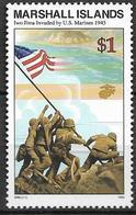 1995 Marshall Islands Mi.568**MNH Geschichte Des Zweiten Weltkrieges: Landung Der Amerikanischen Truppen Auf Iwo Jima. - Marshall