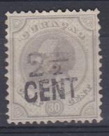 CURACAO  :  Guillaume III Surchargé  Yvert  25 (o)  Cote 12,50 € - Curaçao, Antilles Neérlandaises, Aruba