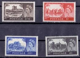 1955 Castle Series, XF, MNH, SG 536-9, Set Of 4, £ 16 - 1952-.... (Elizabeth II)