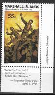 1995 Marshall Islands Mi.574**MNH Geschichte Des Zweiten Weltkrieges:Invasion Der Amerikanischen Truppen Auf Okinawa. - Marshall