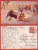 CARTE POSTALE  FANTAISIE - ILLUSTRATEUR - CARLOS RUANO - CORRIDA - UN COLEO - Illustrateurs & Photographes