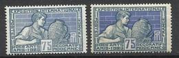 France  N° 214 Et 214 Bleu Clair Et Gris   Neufs  ( *)  TB   Soldé ! ! ! - Abarten: 1921-30 Ungebraucht