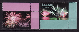 Aland, 2018, Fireworks, 2 Stamps - Aland