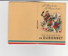 """PETIT LIVRE PUBLICITÉ""""CHAMPAGNE MORLANT,VIN DUBONNET"""" LE JEU DE LA BELOTE ET TOUTES LES RÈGLES 32 PAGES (9.2x6.3 Cm) - Advertising"""