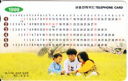 SOUTH KOREA - Calendar 1999(reverse Letter W, W 3000), Used - Phonecards