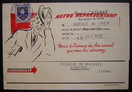 Lille FACEN Bel Imprimé De 1955 (agence De Caen Raoul Cassart), Illustré, Voir Photos - Postmark Collection (Covers)