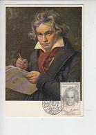 CECOSLOVACCHIA  1970 - Annullo Speciale Illustrato - Beethowen - Musica