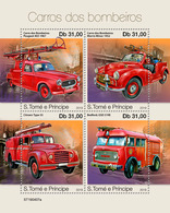 S. TOME & PRINCIPE 2019 - Fire Engines: Peugeot, Citroen. Official Issue [ST190407a] - Voitures