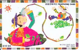 SOUTH KOREA - Fairy Tales(reverse Letter K, W3000), Used - Korea (Zuid)