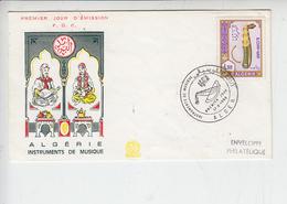 ALGERIS  1968 - FDc - Annullo Speciale Illustrato - Strumenti Musicali - Musica