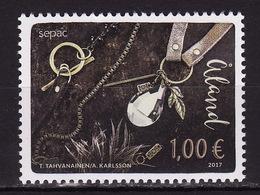 Aland, 2017, Crafts, Jewelery, 1 Stamp - Aland