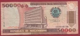 Mozambique 50000 Méticais Du 16/06/1993 Dans L 'état - Mozambique