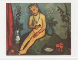 Postcard - Art - Paula Modersohn-Becker - Seated Nude Girl With Flowers 1909 - Card No..mu1964  New - Postcards