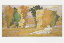 Postcard - Art - Leon Bakst - Set Design For Daphnis And Chloe - Chloe Abandoned - Card No..mu2094  New - Postcards
