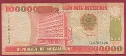 Mozambique 10000 Méticais Du 16/06/1993 Dans L 'état - Mozambique