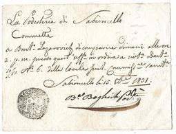 Italy 1831 Podesteria Di Sabioncello Certificate Negative Handstamp Eb - ...-1850 Préphilatélie