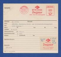 Deutsche Bundespost AFS Archivkarte - BREMEN, Degussa Degulor Das Ideale Zahngold 7.10.57 - BRD