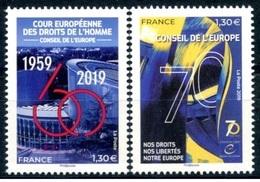 France 2019 - 70e Anniversaire Du Conseil De L'Europe Stamp Set Mnh - Croix-Rouge