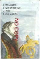 San Marino 15.9.1994, Pavarotti International, 4° Concorso Ippico CSIO, Annulo Figurato Su Cartolina Ufficiale. - Ippica