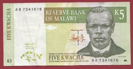 Malawi 5 Kwacha Du 01/07/1997 Dans L 'état - Malawi