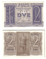 2 LIRE IMPERO 1939 FDS LOTTO 822 - [ 1] …-1946 : Royaume