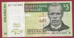 Malawi 5 Kwacha Du 01/12/2005 Dans L 'état - Malawi