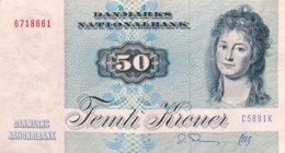 Denmark 50 Kroner, P-50h (1989) - Very Fine Plus - Danemark