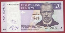 Malawi 20 Kwacha Du 31/10/2009 Dans L 'état - Malawi