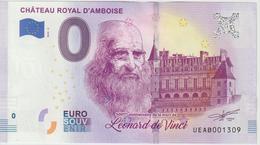 Billet Touristique 0 Euro Souvenir France 37 Chateau Royal D'Amboise 2019-2 UEAB001309 - Essais Privés / Non-officiels