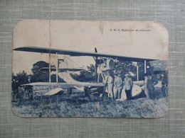 CPA AVION HYDRAVION DE TOURISME ANIMEE - Flugzeuge