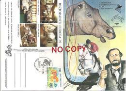 San Marino 14.9.1995, Pavarotti International, 5° Concorso Ippico CSIO, Annulo Figurato Su Cartolina Ufficiale. - Ippica