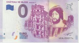 Billet Touristique 0 Euro Souvenir France 41 Chateau De Blois 2019-3 UEAJ000774 - EURO