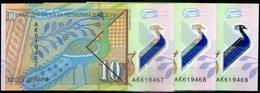 Macedonia,2018,Polymer 3 Banknoten Cosecutiv Serial No.UNC,as Scan - Macédoine