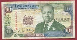 Kenya  10 Shillings 01/07/1990 Dans L 'état - Kenya