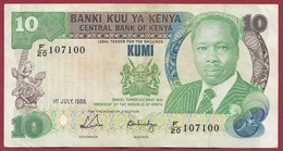 Kenya  10 Shillings 01/07/1988 Dans L 'état - Kenya