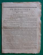 """Journal """"Le Rédacteur"""" - N° 133 - Mardi 26 Avril 1796 - Journaux Anciens - Avant 1800"""