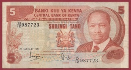 Kenya  5 Shillings 01/01/1981 Dans L 'état - Kenya