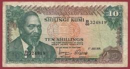 Kenya 10 Shillings 01/07/1976 Dans L 'état - Kenya