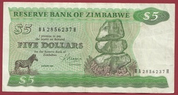 Zimbabwe 5 Dollars 1993 (Sign 2) Dans L 'état - Zimbabwe
