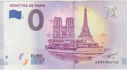 Billet Touristique 0 Euro Souvenir France 75 Vedettes De Paris 2019-1 UEMY006102 - Essais Privés / Non-officiels
