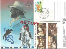 San Marino 20.6.1996, Pavarotti International, 6° Concorso Ippico CSIO, Annulo Figurato Su Cartolina Ufficiale. - Ippica