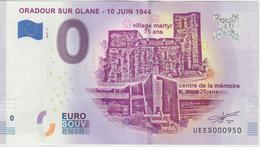 Billet Touristique 0 Euro Souvenir France 87 Oradour Sur Glane 2019-4 UEES000950 - Essais Privés / Non-officiels