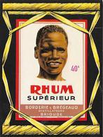 Superbe étiquette RHUM Supérieur  40° BORDERIE & BREGEAUD Distillateurs BRIOUDE - Rhum