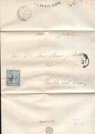 Año 1866 Edifil 81 4c Sello Isabel II Carta Impresa Matasellos Rueda De Carreta 9 Alicante Membrete Ramon Lagier - 1850-68 Royaume: Isabelle II