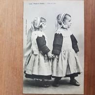 Pont-l'Abbé.fille Et Gars.coiffe Costume Breton.édition Villard 1500 - Pont L'Abbe