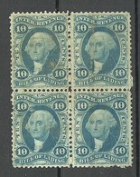 USA 1862/1871 Revenue Tax Bill Of Lading 10 C. As 4-block (*) - Revenues