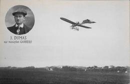 CPA. - J. DUMAS Sur Monoplan GARBERO - TBE - Aviateurs